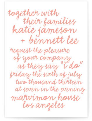Charm School Letterpress Wedding Invitations