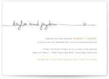 The Happy Couple Letterpress Wedding Invitations