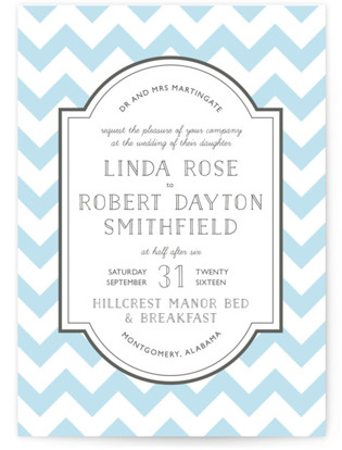 Modern Belle Letterpress Wedding Invitations