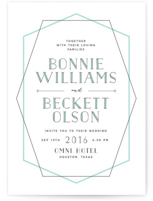 Electric Letterpress Wedding Invitations