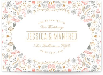 Framed Letterpress Wedding Invitations