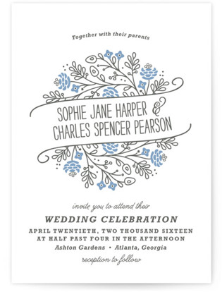 Prosperity Letterpress Wedding Invitations