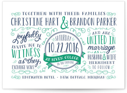 Serendipity Letterpress Wedding Invitations