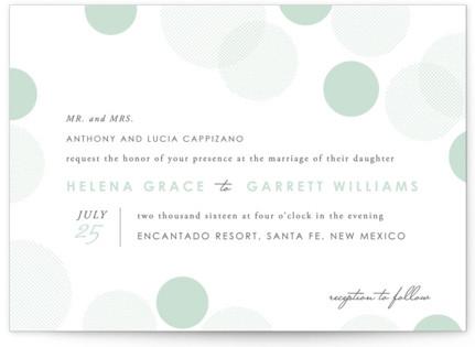 Float Away Letterpress Wedding Invitations