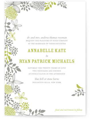 Fling Letterpress Wedding Invitations
