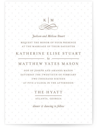 A Glamorous Affair Letterpress Wedding Invitations