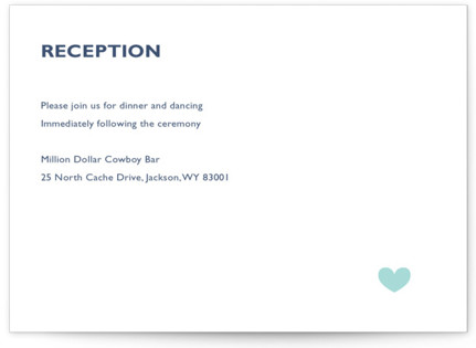 Destination Letterpress Reception Cards