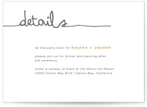 The Happy Couple Letterpress Reception Cards