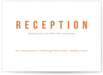 Mod Bloom Letterpress Reception Cards