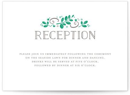 Botanical Letterpress Reception Cards