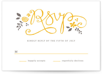 A More Perfect Union Letterpress RSVP Cards