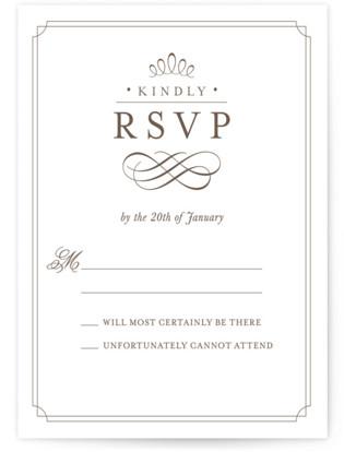 A Glamorous Affair Letterpress RSVP Cards