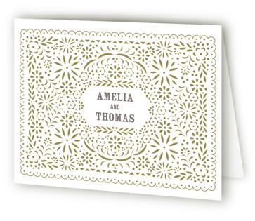 Fiesta Folk Art Letterpress Thank You Cards