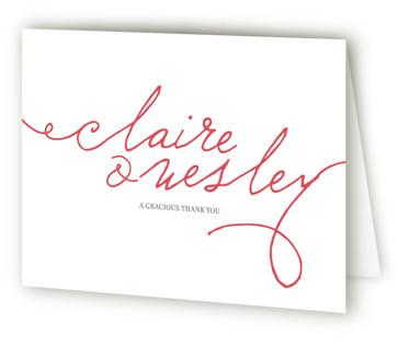 Love Letter Letterpress Thank You Cards