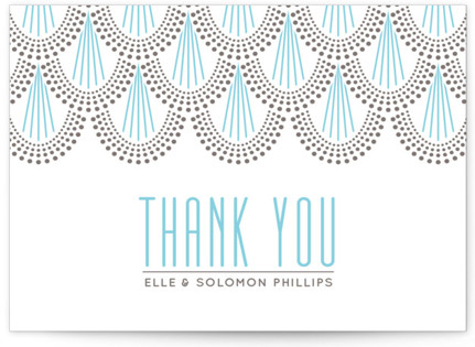 Serene Jazz Age Letterpress Thank You Cards