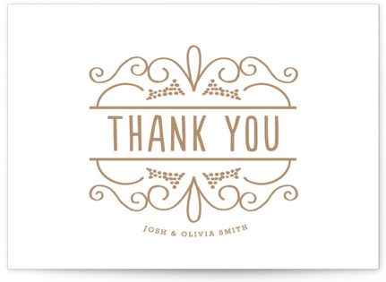 Luxe Impression Letterpress Thank You Cards