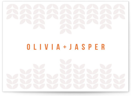 Mod Bloom Letterpress Thank You Cards
