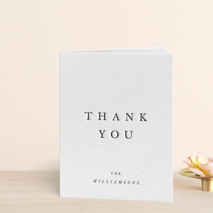 """""""Johannis"""" - Letterpress Thank You Cards in Black by Jack Knoebber."""