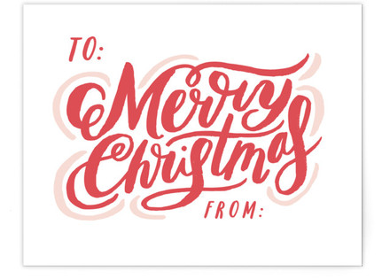 Merry Script Tag Card Self-Launch A2 Cards