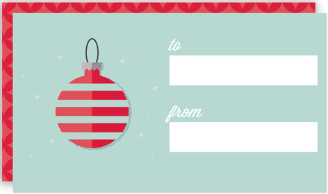 Vintage Ornament Tag Self-Launch Mini Cards