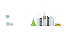 Winter City Holiday Gift Tag - NYC Self-Launch Mini Cards