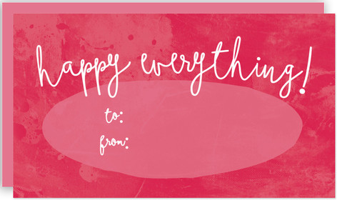Happy Everything Script Self-Launch Mini Cards
