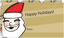 Laughing Santa by Lisa Travis