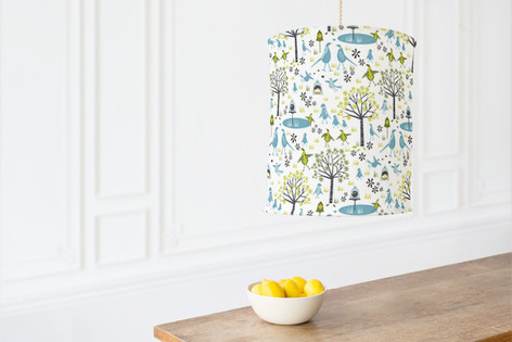 Lakeside Birds Self Launch Chandelier Lampshades