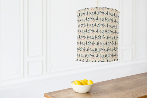 Bird Family Self Launch Chandelier Lampshades