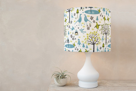 Lakeside Birds Self Launch Drum Lampshades