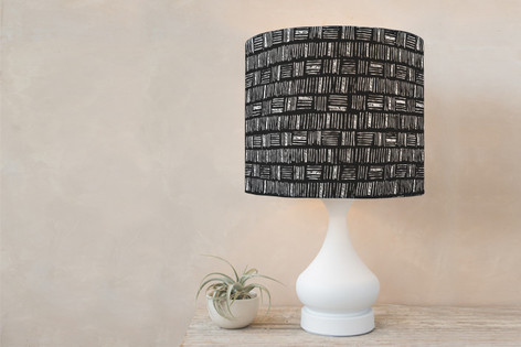 City Crosshatch  Self Launch Drum Lampshades