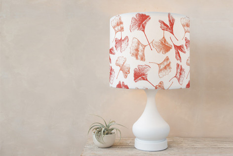 Gingko Floral Self Launch Drum Lampshades
