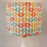 Summer Leaves Self Launch Drum Lampshades