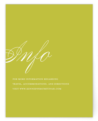 Fete Mitzvah Direction Cards