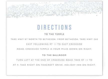 Parchment Mitzvah Direction Cards