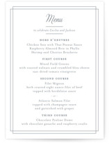Chic Gala Menu Cards