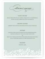 White Shadows Menu Cards