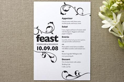 Feast Menu Cards