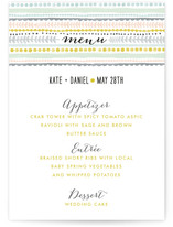 Whimsy Stripe Menu Cards