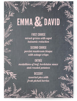 Woodland Romance Menu Cards