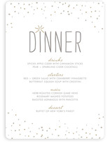 Rustic Sparkle Menu Cards