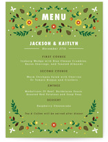 Woodland Menu Cards