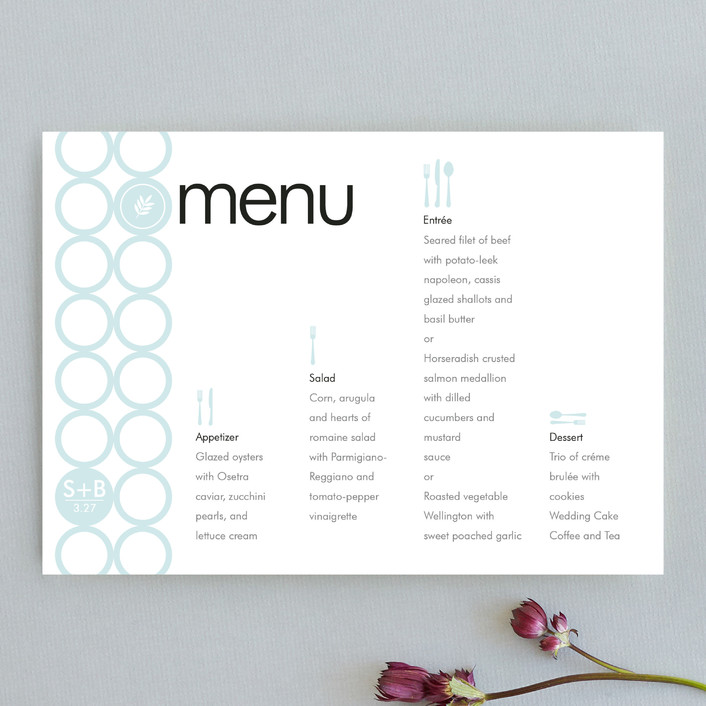 """""""mod"""" - Modern Menu Cards in Frost by papermoon."""