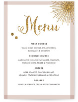 Holiday Bling Menu Cards