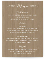 Woodland Initials Menu Cards
