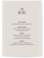 Alford Park Menu Cards