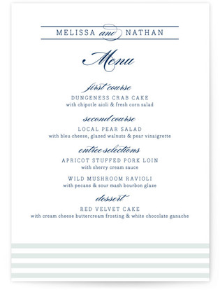 Nautical Menu