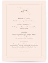 Art Deco Filigree Menu Cards
