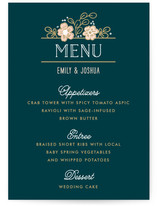 Country Florals Menu Cards