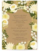 Floral Canopy Menu Cards